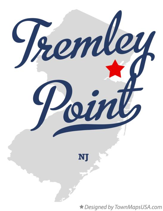 Map of Tremley Point New Jersey NJ