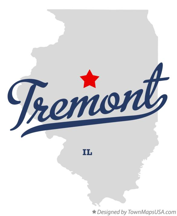 Map of Tremont Illinois IL