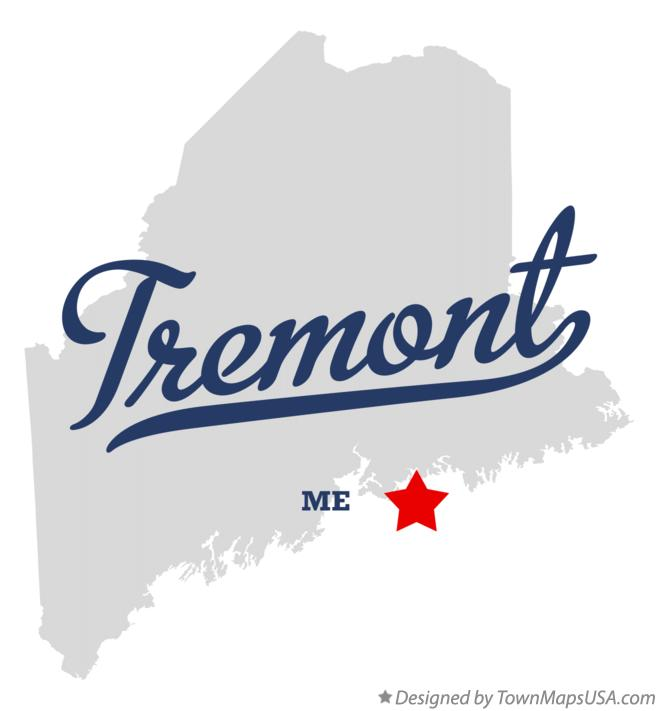 Map of Tremont Maine ME