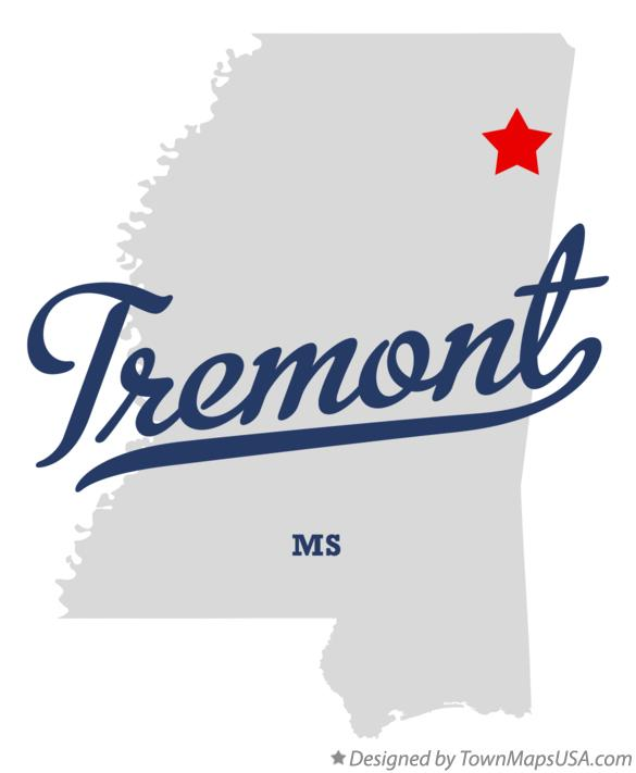 Map of Tremont Mississippi MS