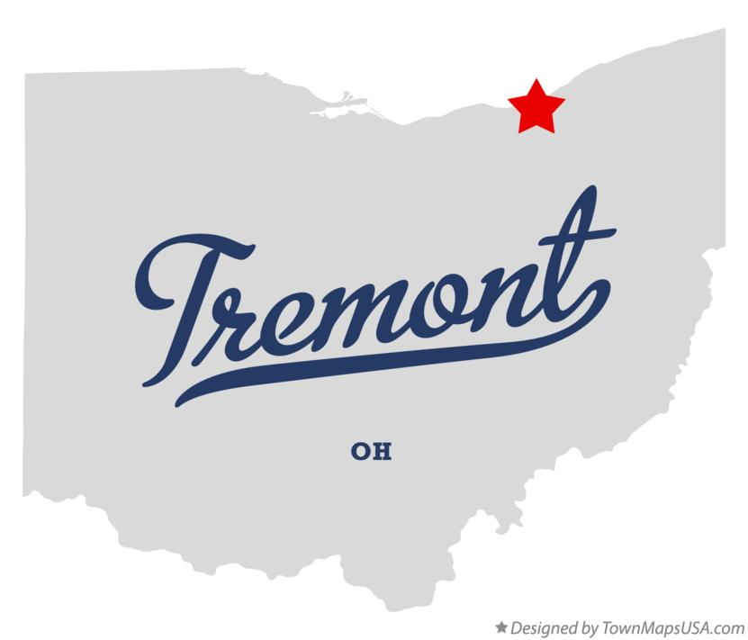 Map of Tremont Ohio OH