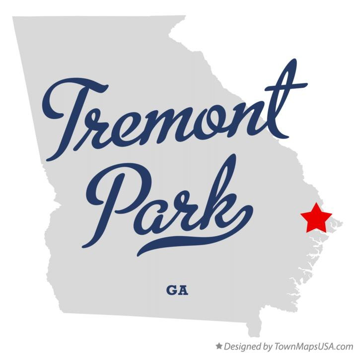 Map of Tremont Park Georgia GA
