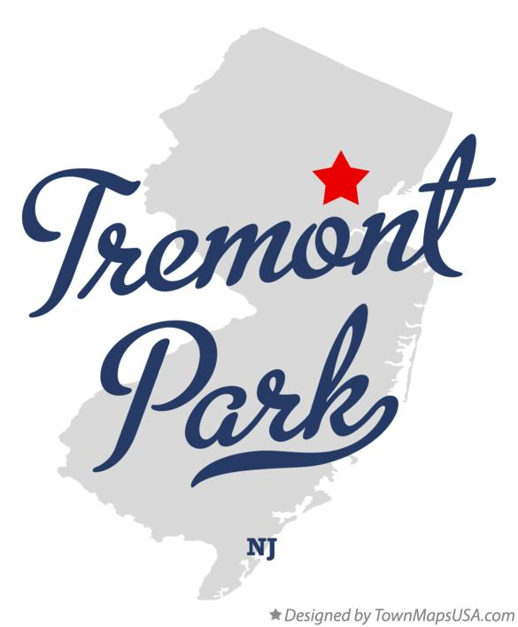 Map of Tremont Park New Jersey NJ