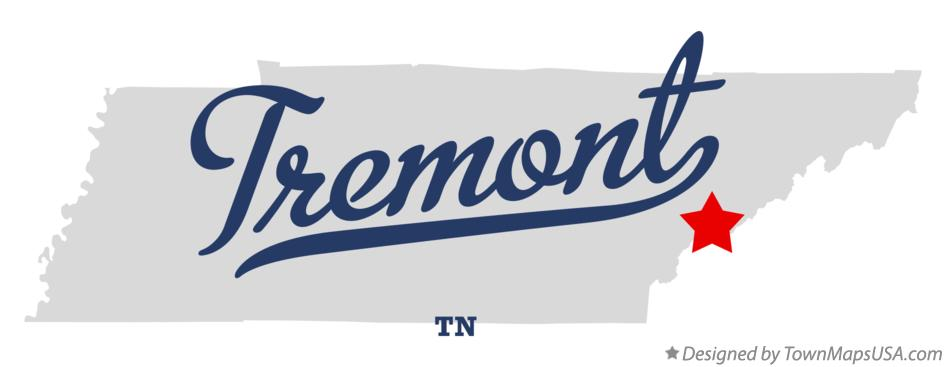 Map of Tremont Tennessee TN