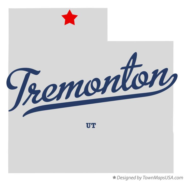 Map of Tremonton Utah UT