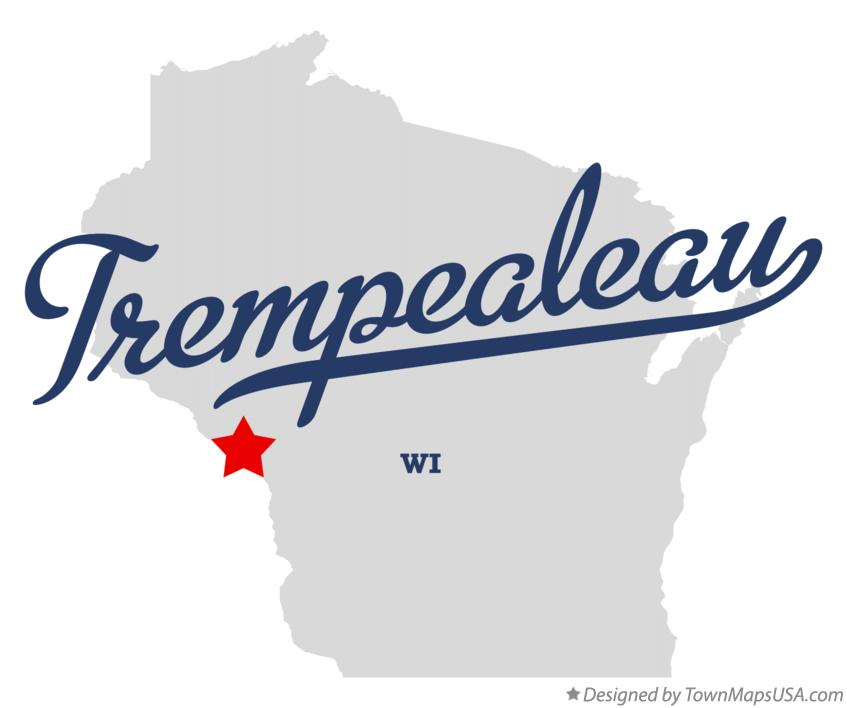 Map of Trempealeau Wisconsin WI