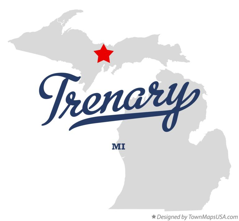 Map of Trenary Michigan MI