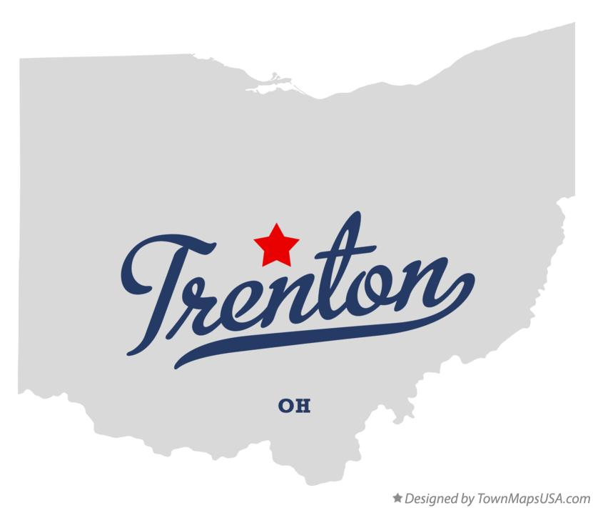 Map of Trenton Ohio OH