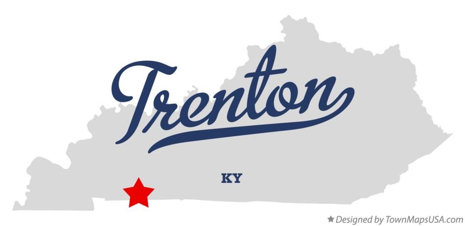 Map of Trenton Kentucky KY