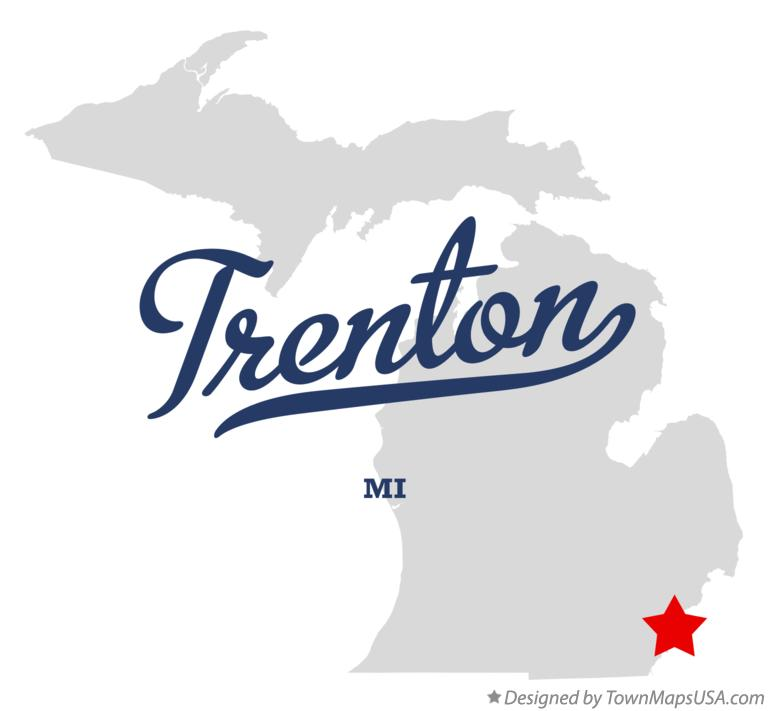 Map of Trenton Michigan MI