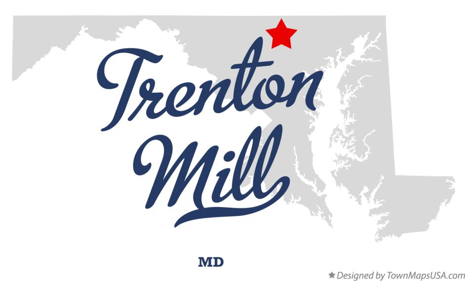 Map of Trenton Mill Maryland MD