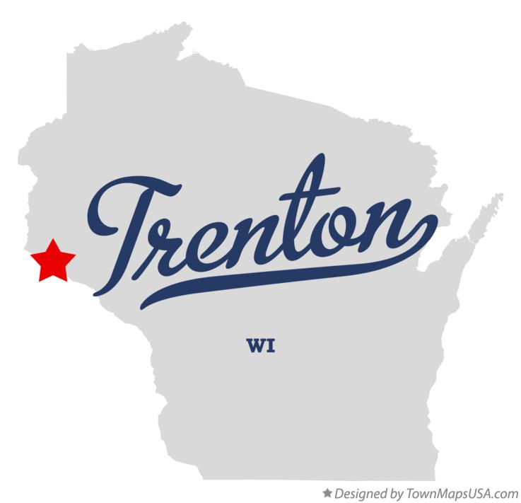 Map of Trenton Wisconsin WI