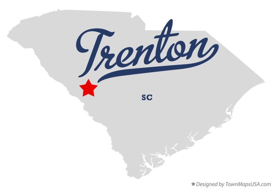 Map of Trenton South Carolina SC