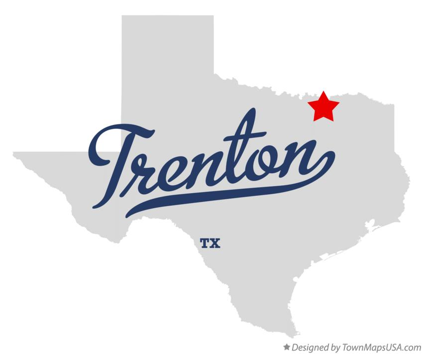 Map of Trenton Texas TX
