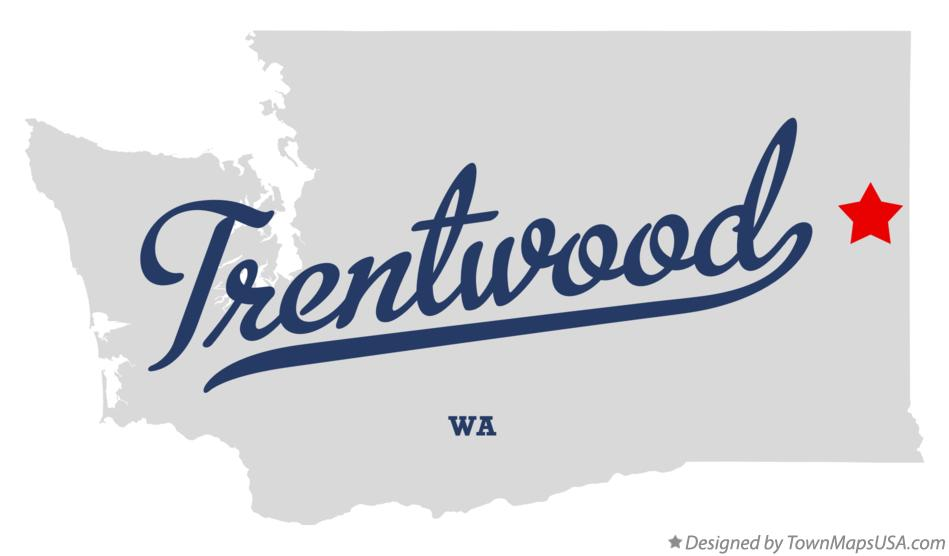 Map of Trentwood Washington WA