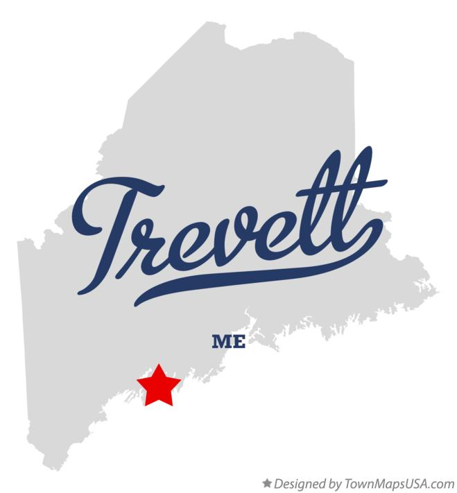 Map of Trevett Maine ME
