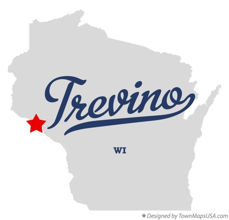 Map of Trevino Wisconsin WI