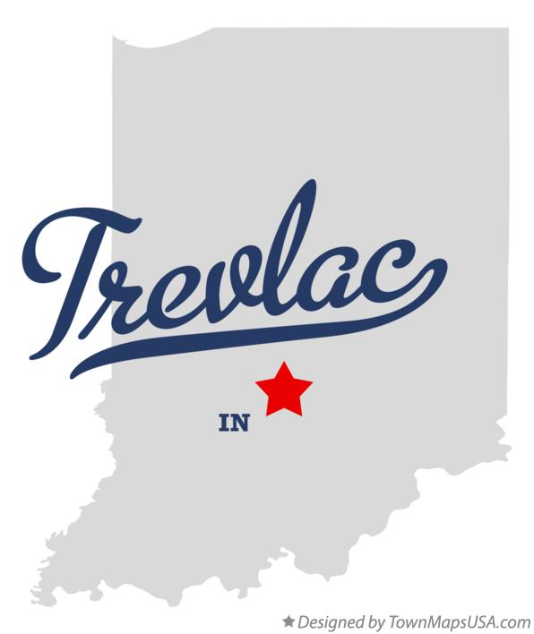Map of Trevlac Indiana IN