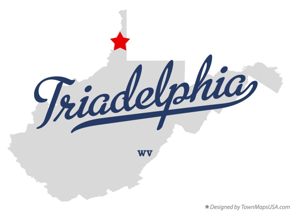 Map of Triadelphia West Virginia WV