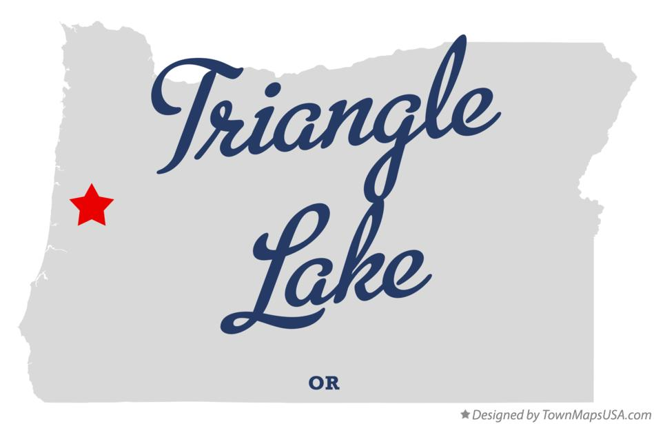 Map of Triangle Lake Oregon OR