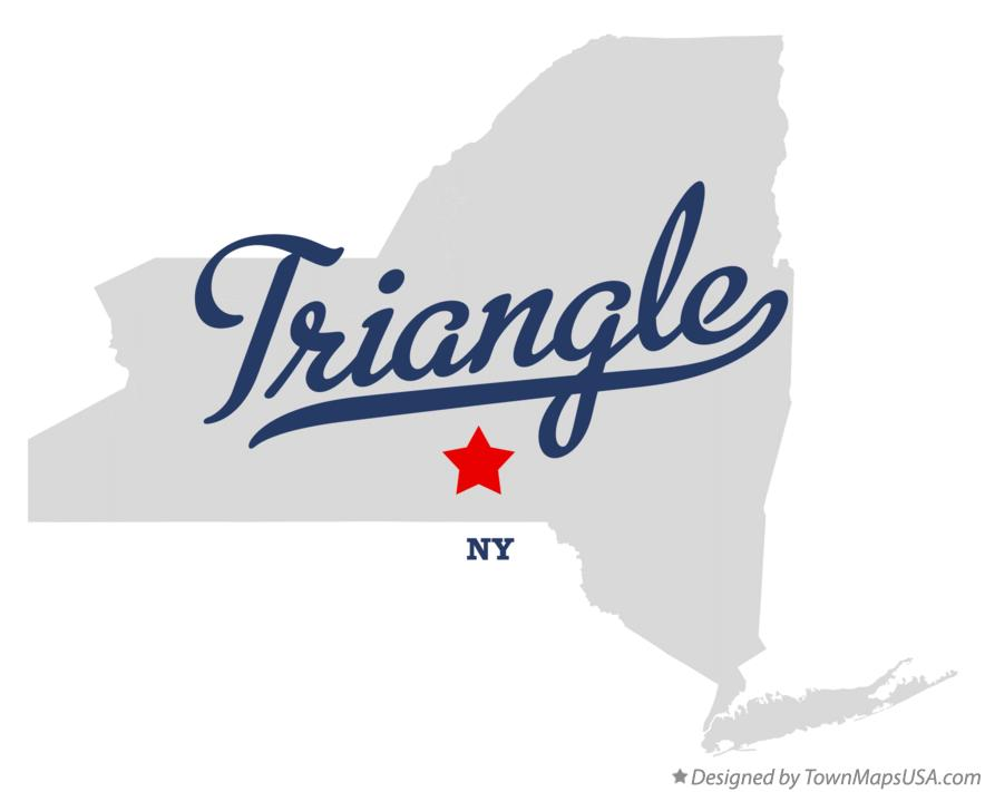 Map of Triangle New York NY