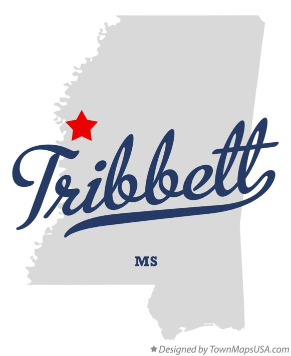 Map of Tribbett Mississippi MS