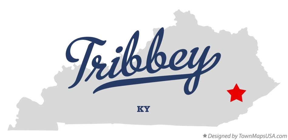 Map of Tribbey Kentucky KY