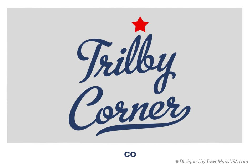 Map of Trilby Corner Colorado CO