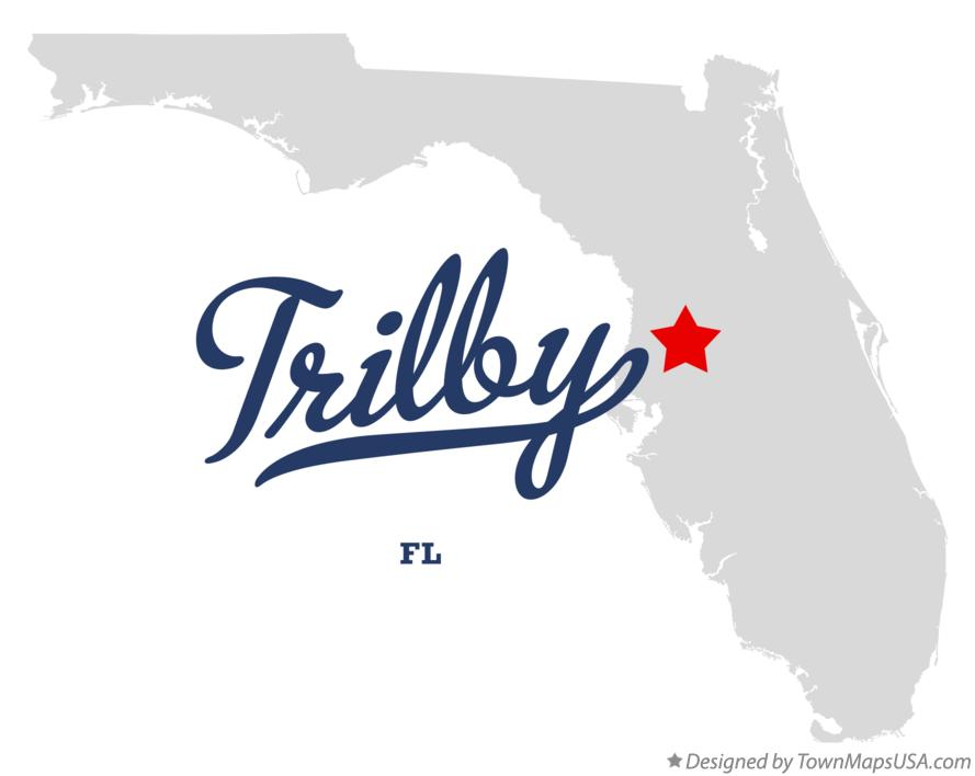 Map of Trilby Florida FL