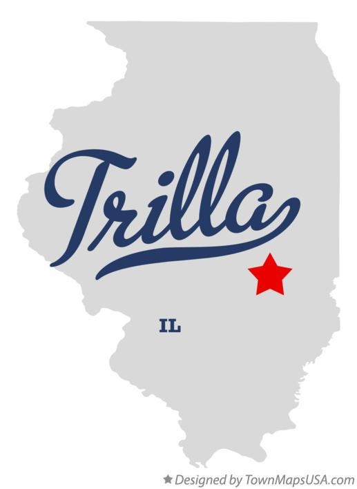 Map of Trilla Illinois IL