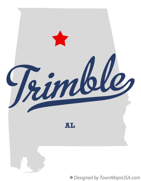 Map of Trimble Alabama AL