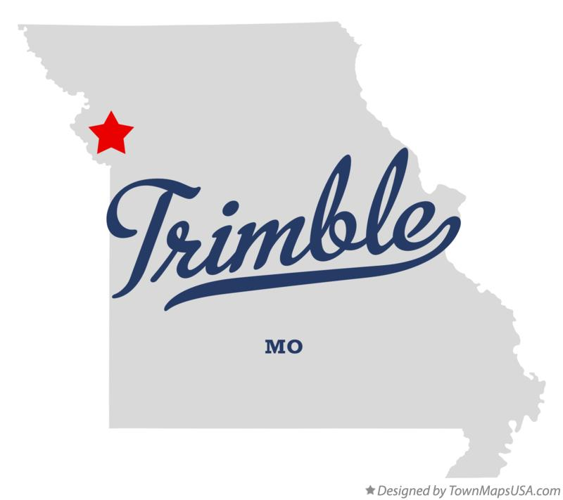 Map of Trimble Missouri MO