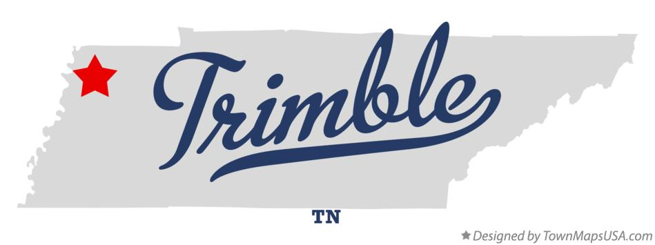 Map of Trimble Tennessee TN