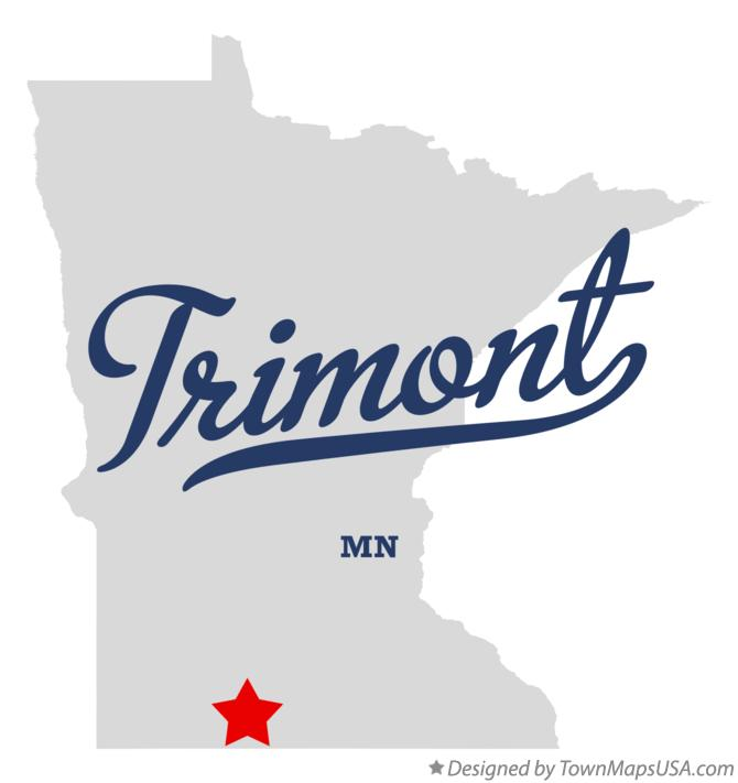 Map of Trimont Minnesota MN