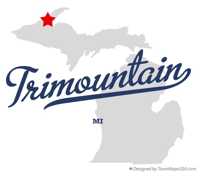 Map of Trimountain Michigan MI