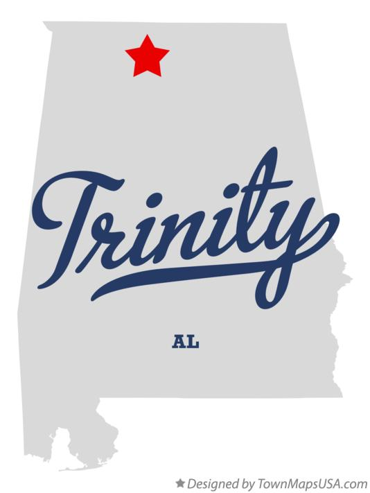 Map of Trinity Alabama AL