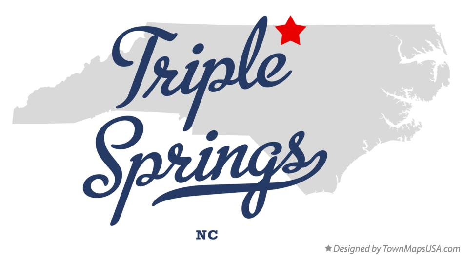 Map of Triple Springs North Carolina NC