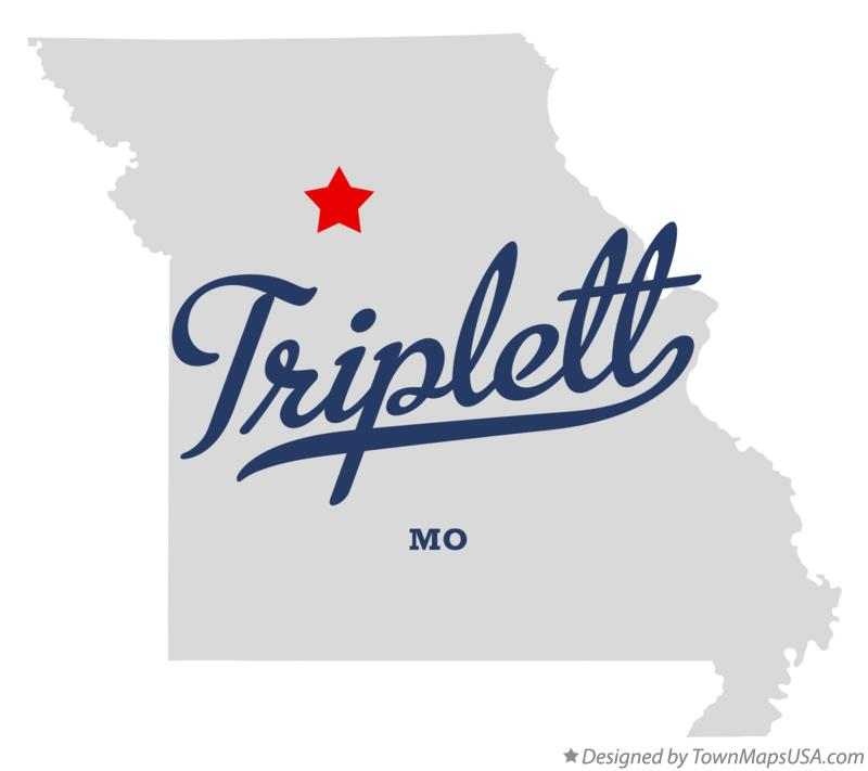 Map of Triplett Missouri MO