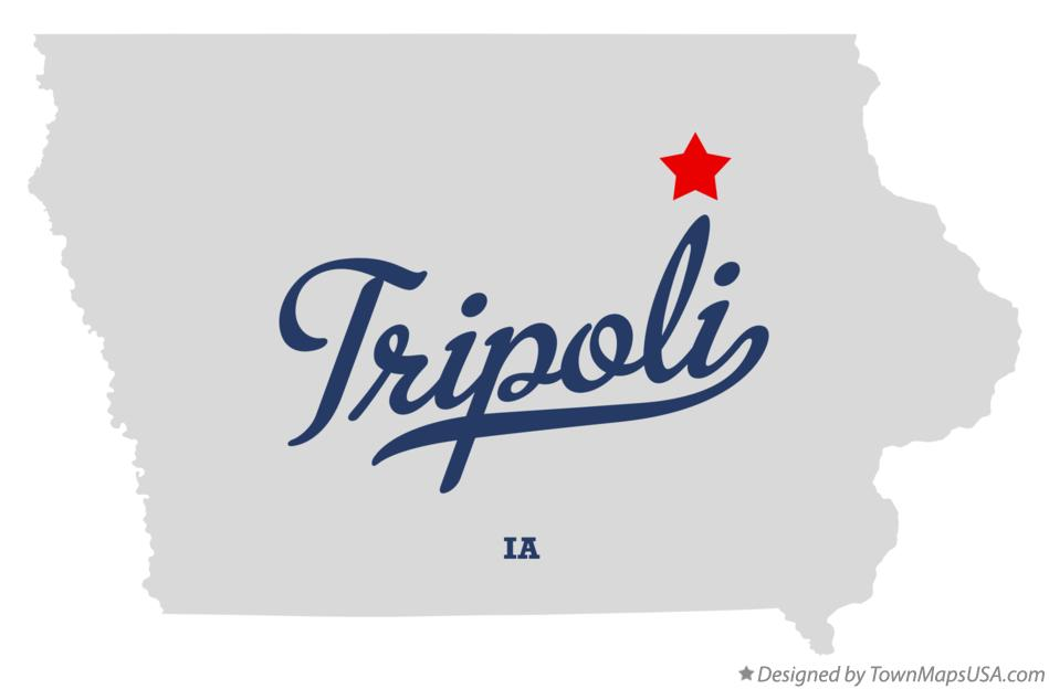 Map of Tripoli Iowa IA