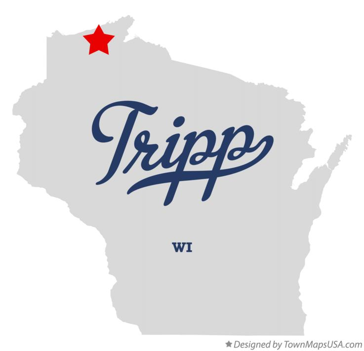 Map of Tripp Wisconsin WI