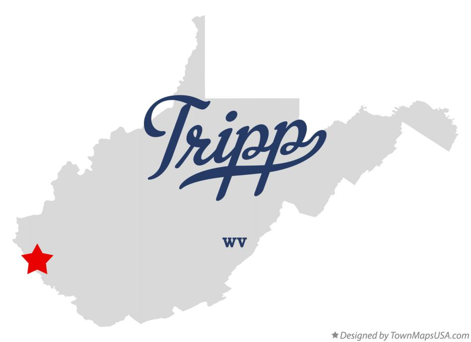 Map of Tripp West Virginia WV