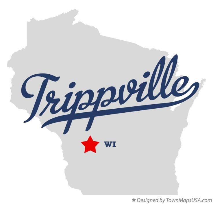 Map of Trippville Wisconsin WI