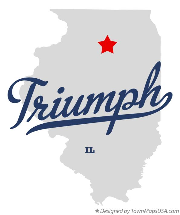 Map of Triumph Illinois IL