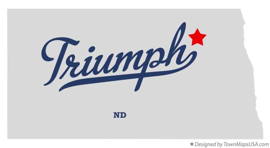 Map of Triumph North Dakota ND