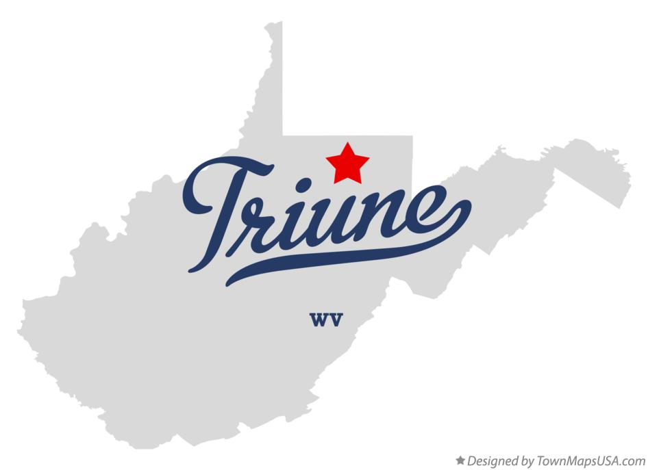 Map of Triune West Virginia WV