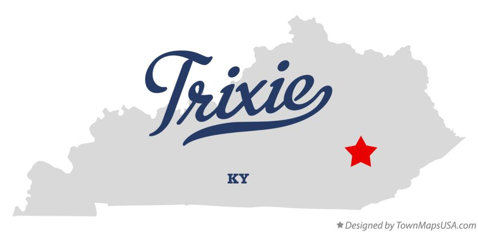 Map of Trixie Kentucky KY