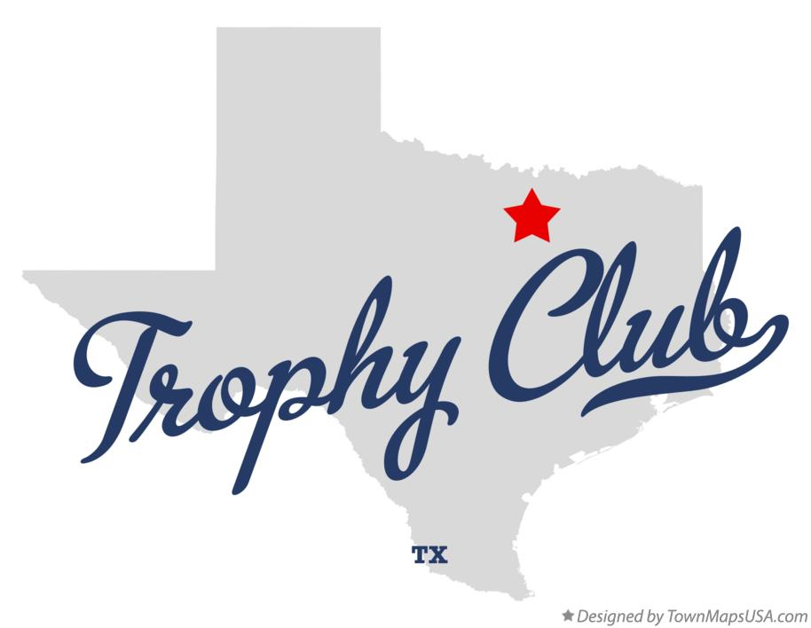 Map of Trophy Club Texas TX
