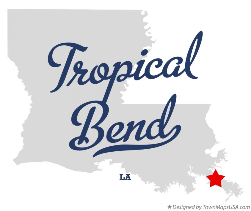 Map of Tropical Bend Louisiana LA