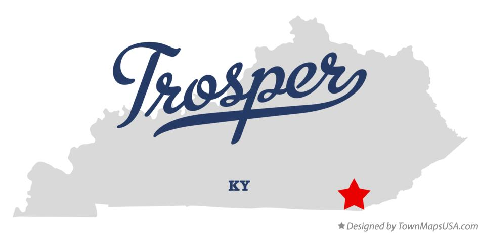 Map of Trosper Kentucky KY