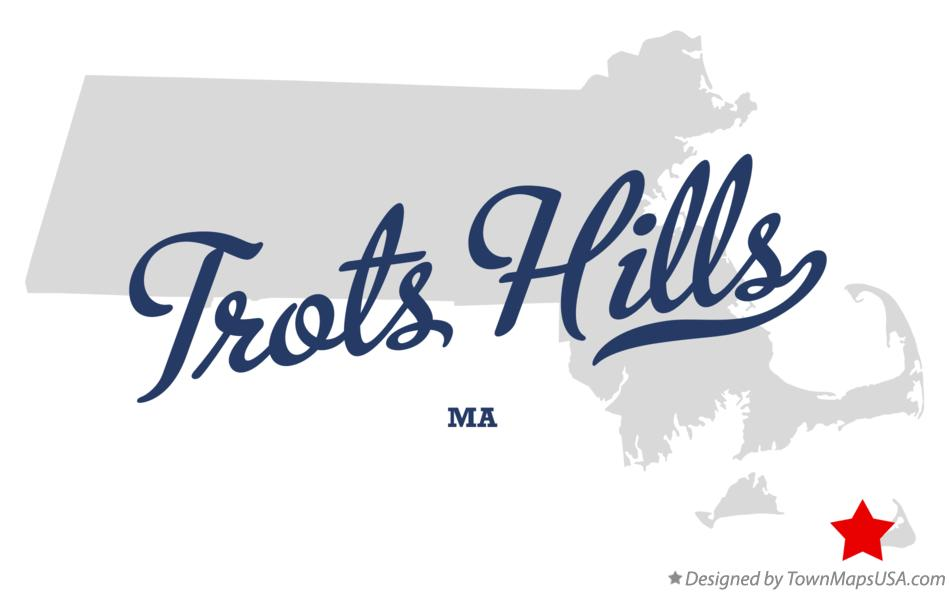 Map of Trots Hills Massachusetts MA